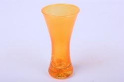 """Стеклянная  """"Весна"""" ваза  122 малая цветная Оранжевая миксМикс-2594"""