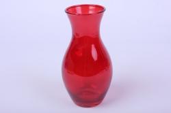 """Стеклянная """"Весна"""" ваза 181 большая цветная Красный миксМикс-2587"""