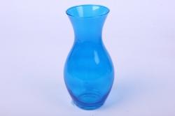 """Стеклянная """"Весна"""" ваза 181 большая цветная Синий миксМикс-2587"""