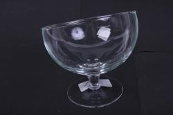 Стеклянный Роджер-1,8 Бокал-ваза малый на плитке 1,8л-косой рез d=15,5 h=17,5см1681