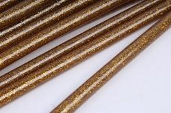 стержень клеевой для термопистолета (d=7мм l=20cм) - глиттер золото тёмный - поштучно