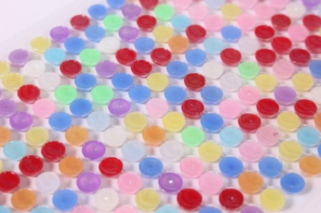 стразы 6мм 260шт разноцветные круглые dz722 9265