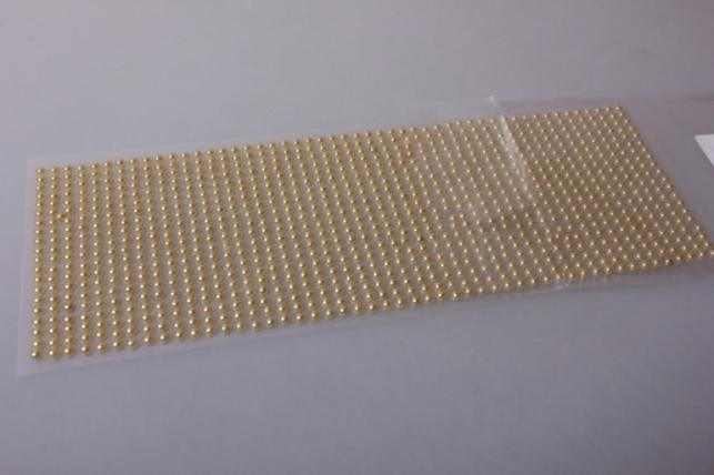 стразы бронзовые на липучке  4мм 1000шт dz362