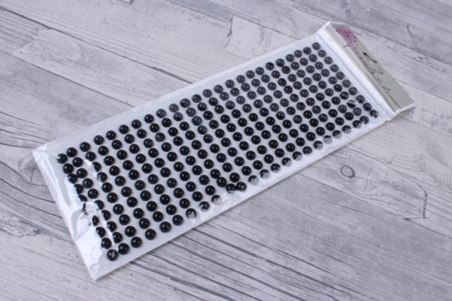 стразы черные круглые 8мм  240шт dz8р-28   0582