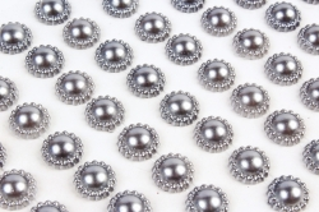 Стразы цветочки жемчуг серебро 10 мм 144 шт  DZ742
