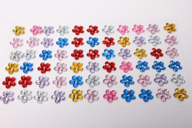 стразы цветы цветные на лип. dz36-2