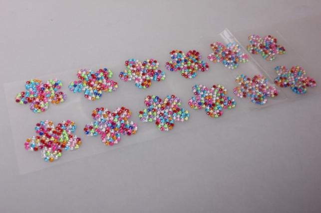 стразы цветы-мозаика 3см 12шт dz588