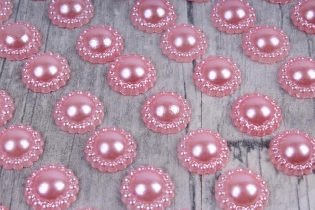 Стразы Цветы розовый жемчуг 112шт  DZ740  9449