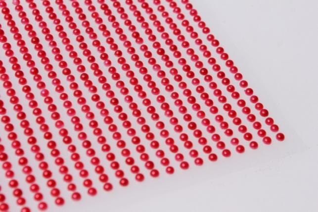 стразы жемчуг красный 3мм  1404шт dz-344 7305