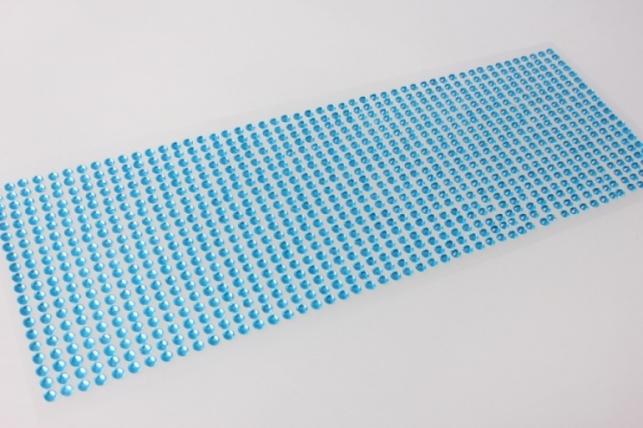 стразы голубые граненые на липучке 4мм 1000шт dz463 8869