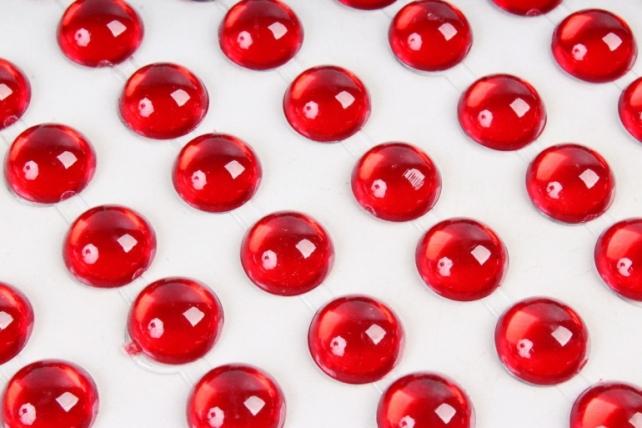 Стразы красные прозрачные 10мм  144шт DZ809