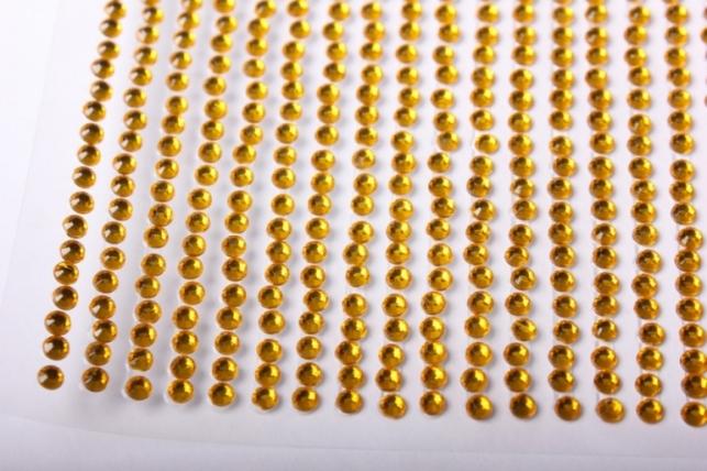 стразы кругл. желтые на липучке 3мм 750шт