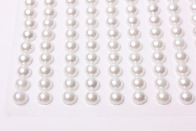 стразы круглые белый жемчуг 8мм 130шт