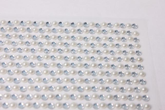 стразы круглые брилиант на липучке 3мм 510шт