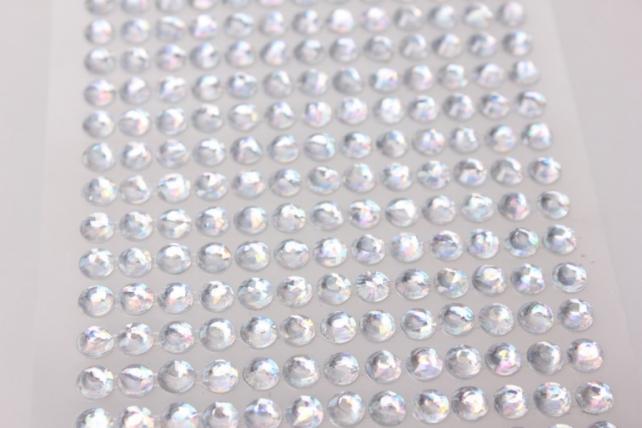 стразы круглые брилиант перлам. на липучке 6мм 260шт