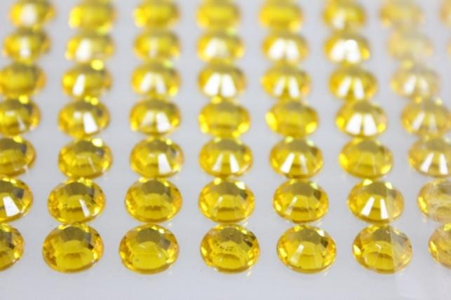 стразы круглые на липучке желтые граненые 8мм 140шт