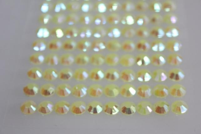 стразы круглые на липучке граненые желтые 8мм 140шт