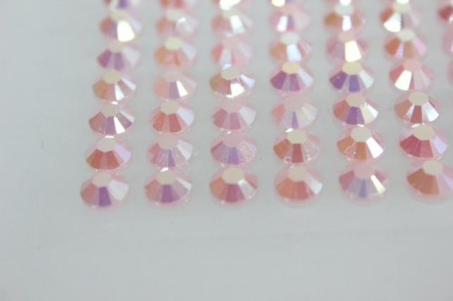 стразы круглые на липучке граненые розовые 6мм 140шт