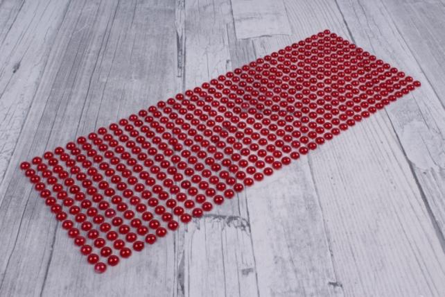 стразы круглые перламутр красные   504шт  dz6р-4  0773