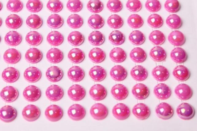 стразы круглые перламутр. малина 8мм 130шт