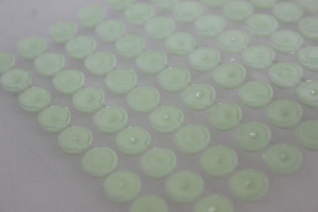 стразы круглые перламутр. салатовые на липучке 8мм   135шт