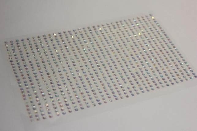 стразы круглые перламутровые белые на липучке 3мм 750шт 8617