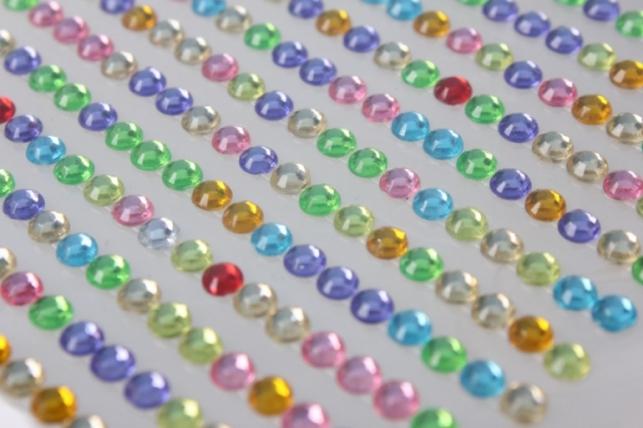 стразы мозаика цветная на липучке 4мм 260шт