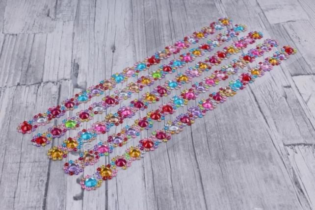 стразы мозаика цветочки    95шт  dz329  0511