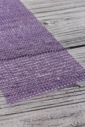 Стразы на липучке жемчуг фиолетовый 1404шт 3мм DZ3P-7