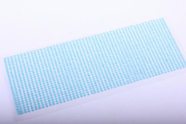 стразы на липучке -  жемчуг голубой 3мм  1404шт dz338 - код 7237