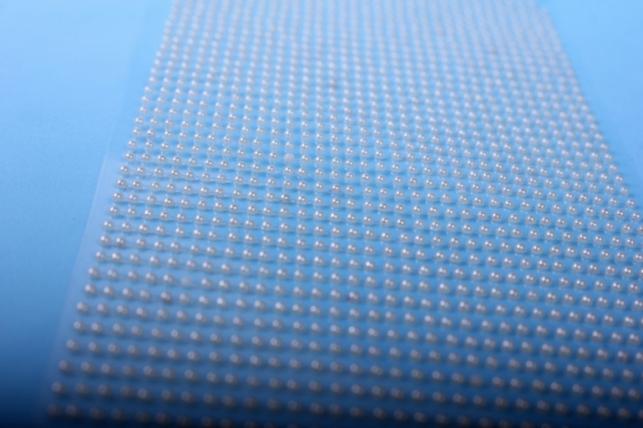 стразы на липучке -  жемчуг кремовый 2мм 1782шт dz579 - код 4417
