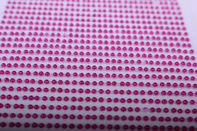 стразы на липучке -  жемчуг малиновый 2мм 1782шт dz581 - код 4431