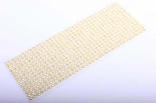 стразы на липучке -   жемчуг медовые 6мм 504 шт  380 - код 7671