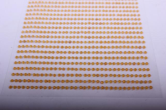 стразы на липучке -  жемчуг медовый 2мм 1782шт dz582 - код 4448