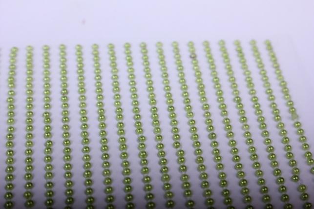 стразы на липучке -  жемчуг оливка 2мм 1782шт dz583 - код 4455