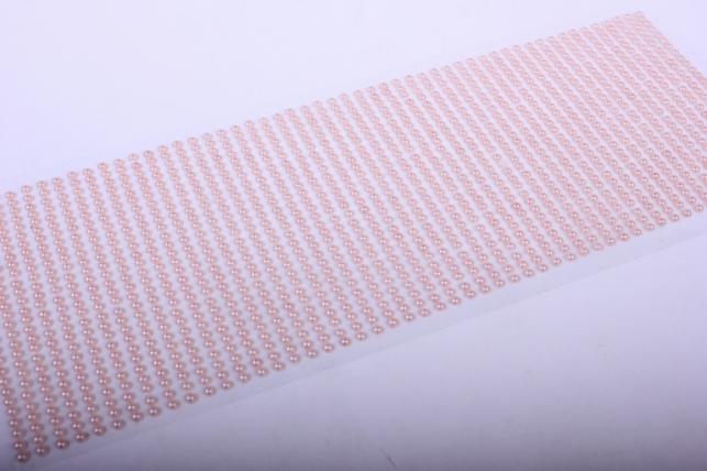 стразы на липучке -   жемчуг персик 3мм 1404шт  dz340 - код 7268