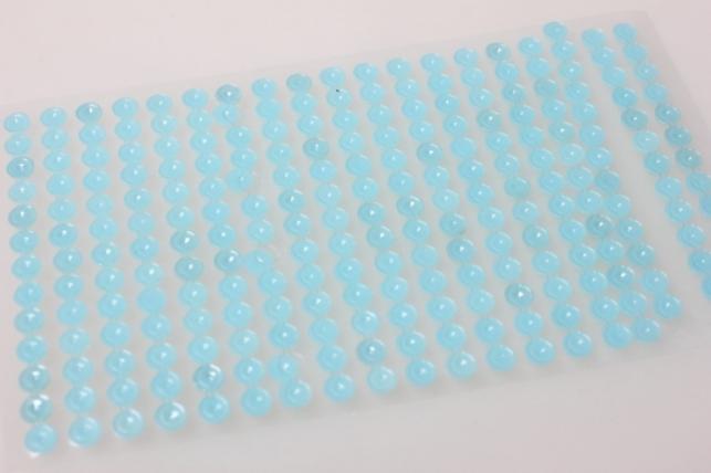 стразы на липучке голубые 6мм 247шт 8253