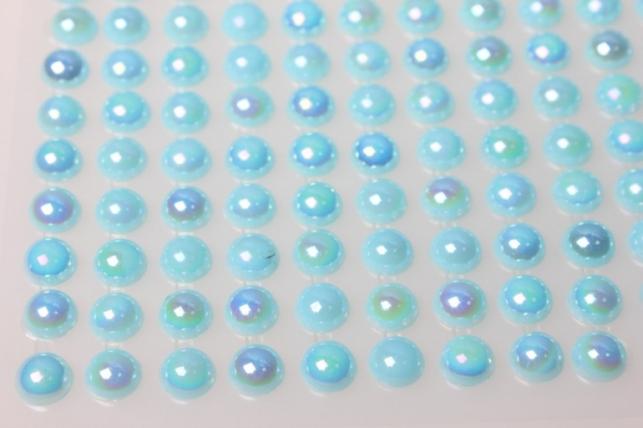 стразы на липучке голубые 8мм 135шт 8369
