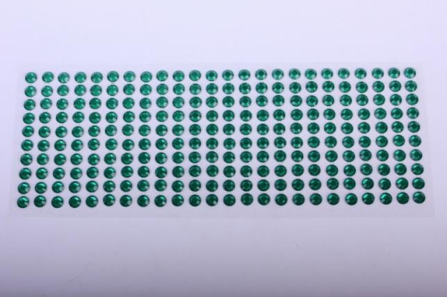 стразы на липучке -  изумруд прозр 8мм 240шт dz8-9 - код 4813