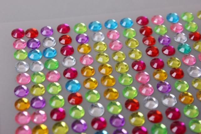 """стразы на липучке """"многоцвет"""" 6мм 504шт  dz484"""
