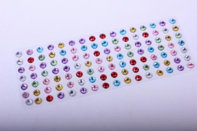стразы на липучке -  мозаика прозрачная 10мм 112шт  dz645 - код 1347