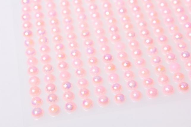 стразы на липучке розовые 6мм 247шт 8222