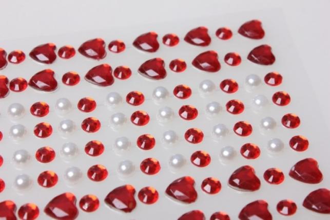 стразы на липучке сердца 9857-4