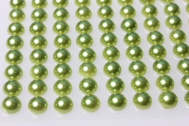 стразы на липучке зелёные 10мм 88шт 8000