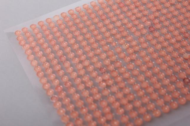 стразы оранжевые на липучке 4мм 1000шт dz353 7398