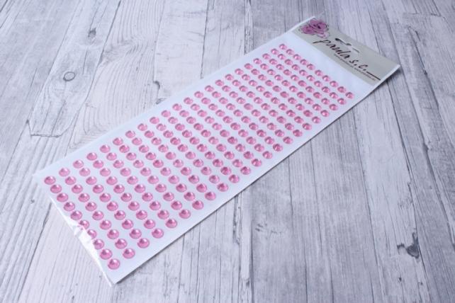 Стразы прозрачные розовые DZ437 220 шт