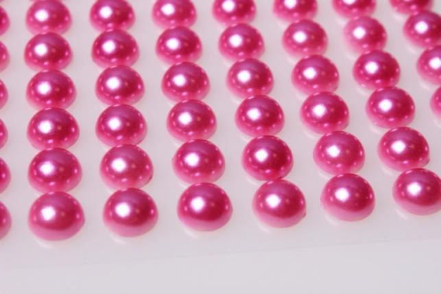 стразы розовые на липучке 10мм 88шт 8062