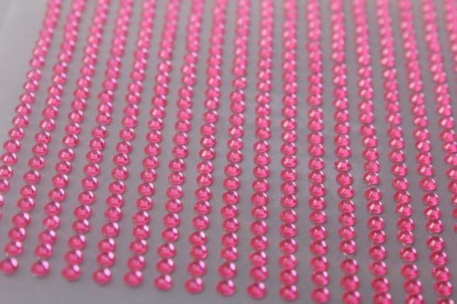стразы розовые на липучке 3мм 884шт dz3-3 4578
