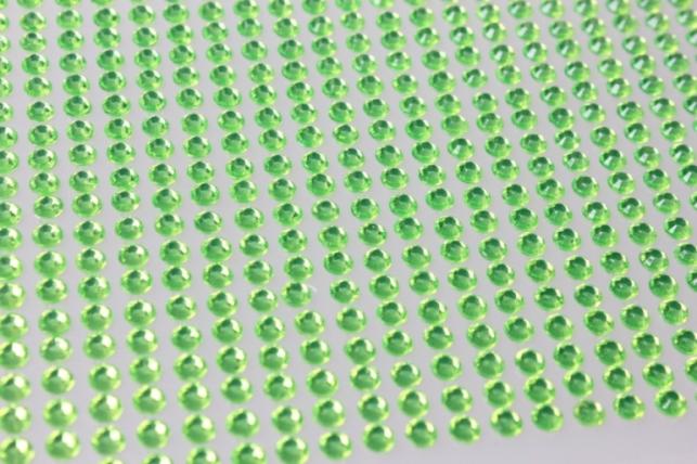 стразы салатовые граненые на липучке 4мм 1000шт  dz461 8845