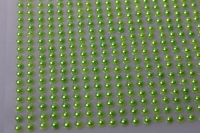 стразы салатовые на липучке 4мм 1000шт dz355 7411